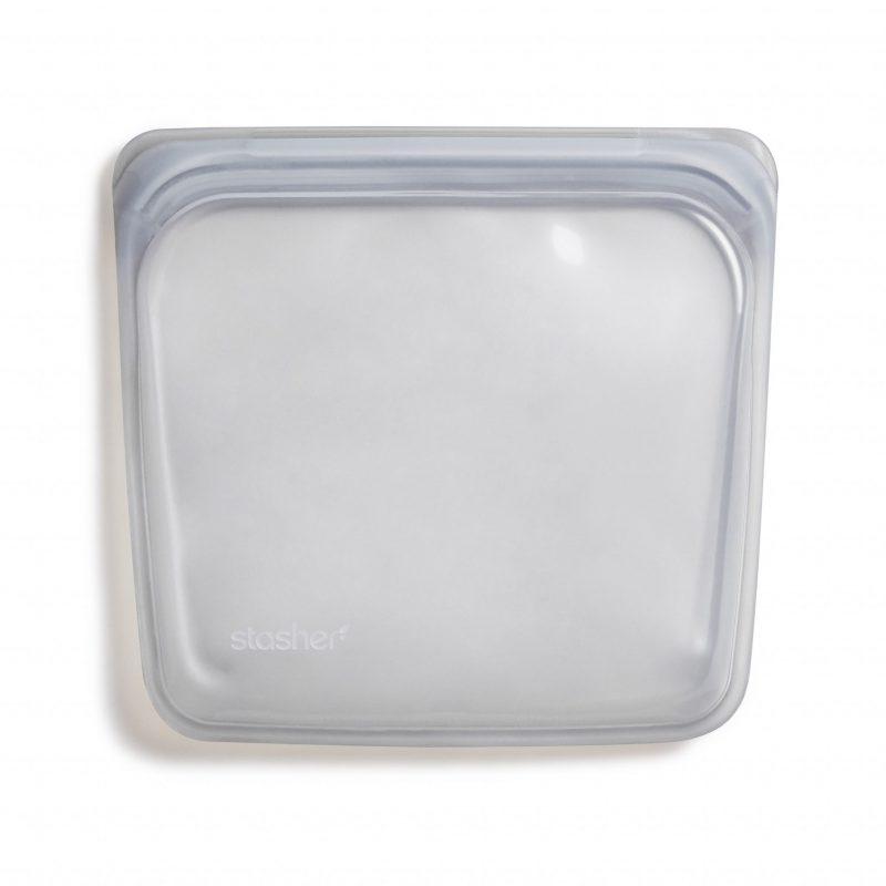 美國 Stasher 矽膠密封袋 方形 星塵灰