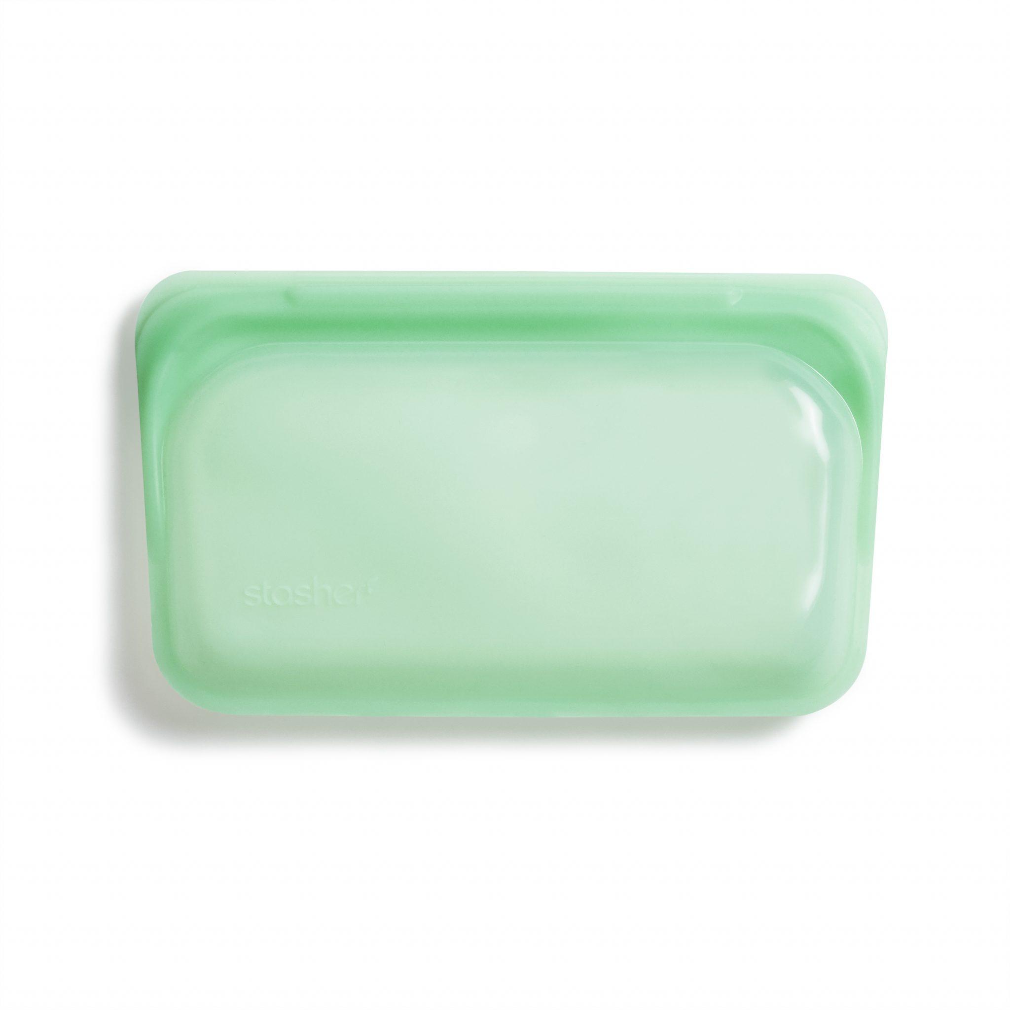 美國 Stasher 矽膠密封袋 長形 薄荷綠