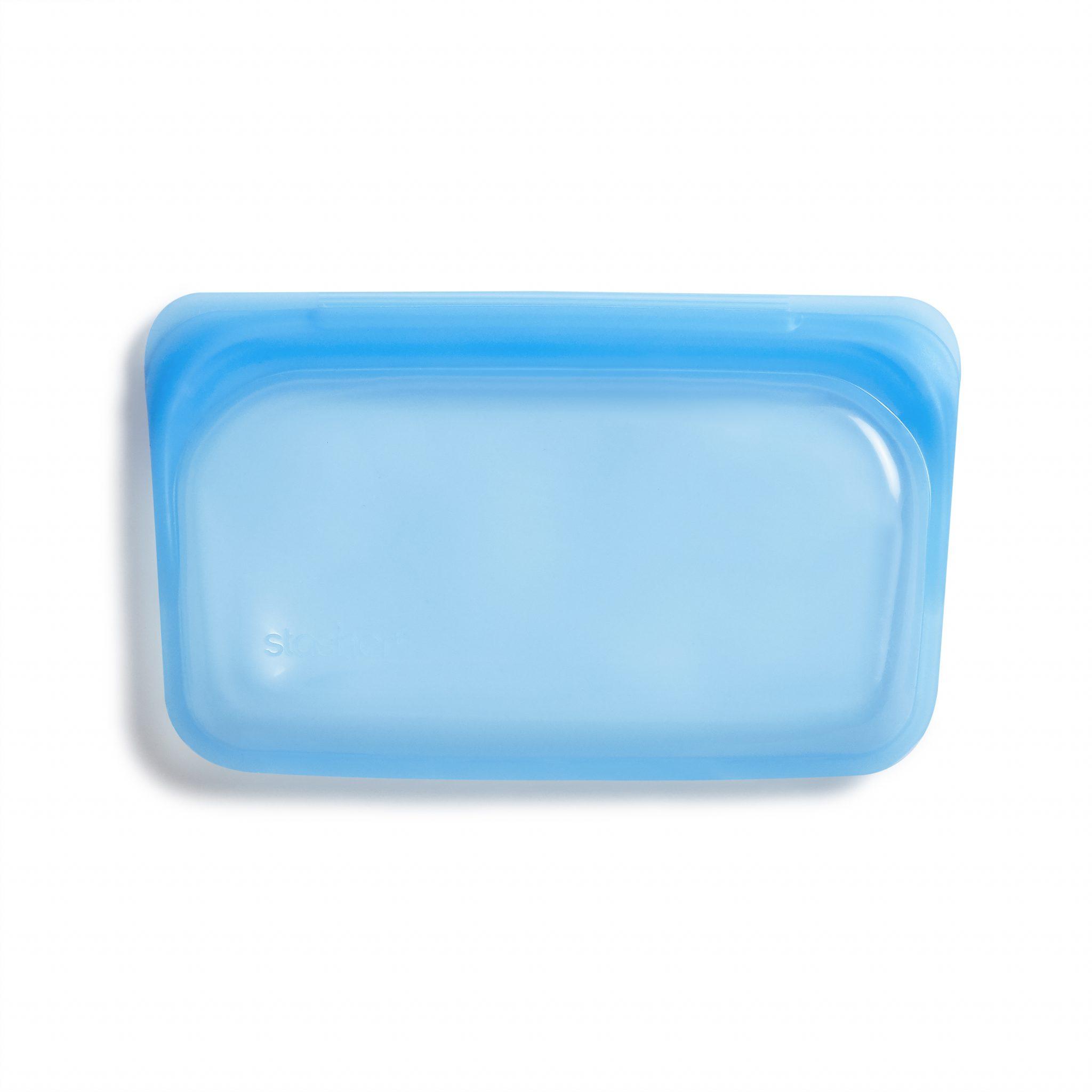 美國 Stasher 矽膠密封袋 長形 藍寶石