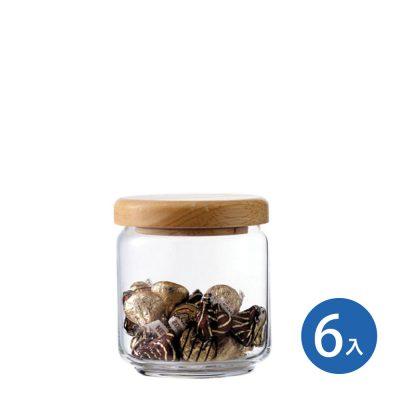 Ocean 木蓋儲物罐 500ml (6入)