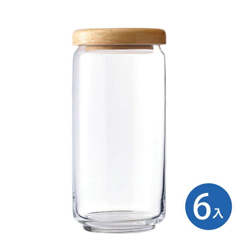 Ocean 木蓋儲物罐 1000ml (6入)