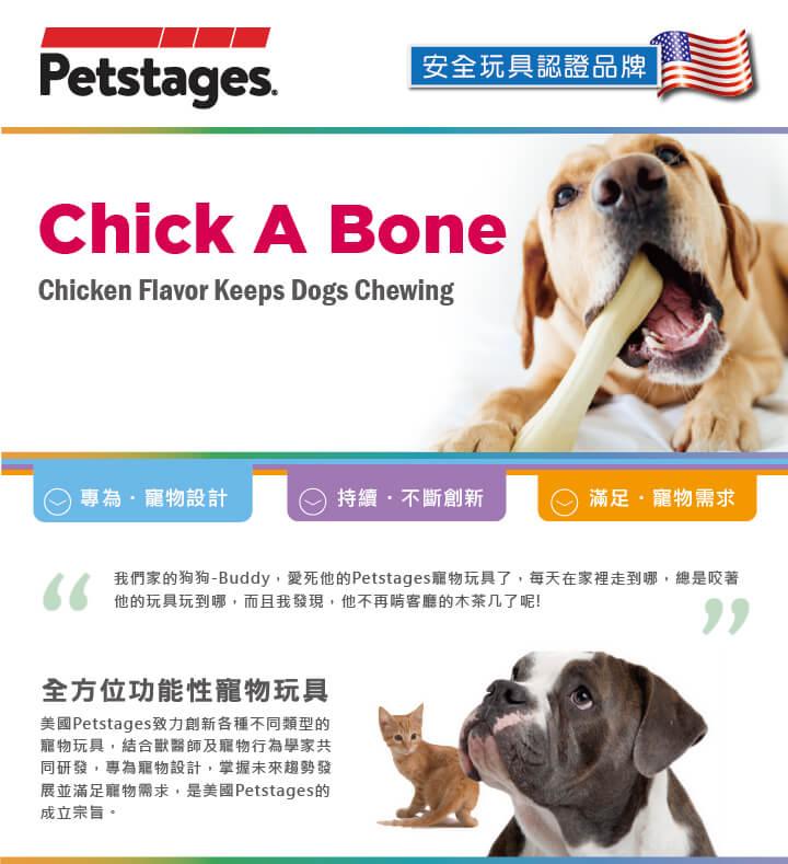 美國 Petstages 狗玩具 趣啃骨史迪克
