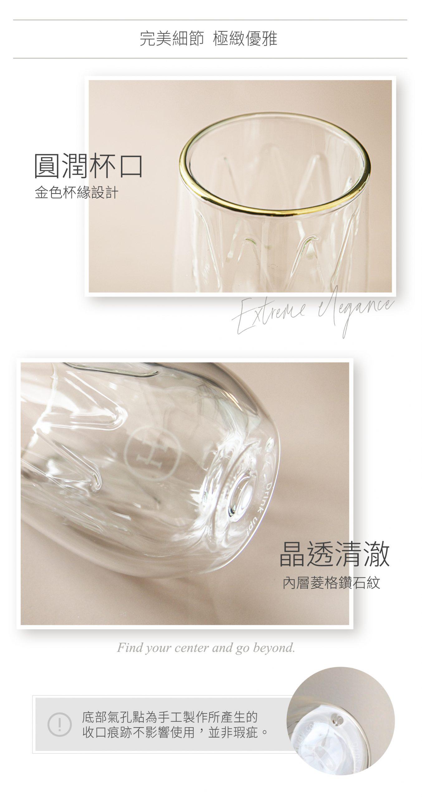 美國 HYDY LUCIDO 雙層玻璃 蛋型杯 菱格紋杯