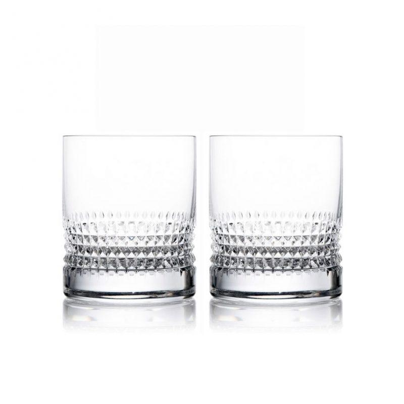 歐洲 ROGASKA 水晶玻璃 DIAMOND 純萃精鑽 威士忌杯 2支裝