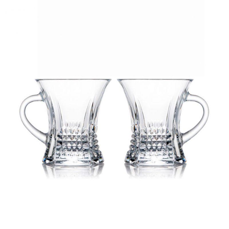 歐洲 ROGASKA 水晶玻璃 DIAMOND 純萃精鑽 茶杯 2支裝