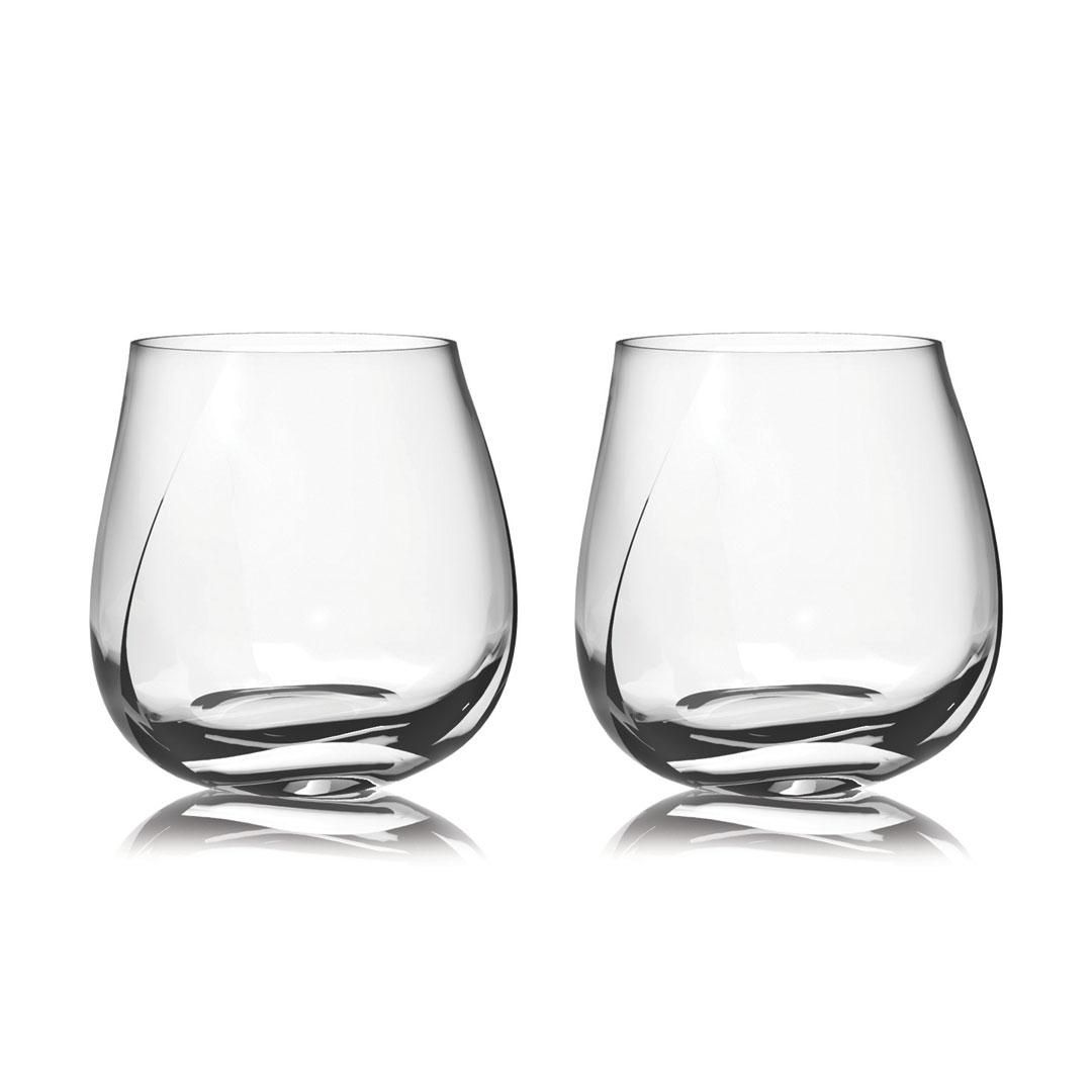 歐洲 ROGASKA 水晶玻璃 STONE 藍色東歐 威士忌杯 2支裝