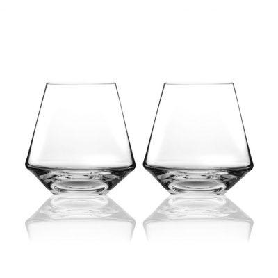 歐洲 ROGASKA 水晶玻璃 STOP 沉思者 威士忌杯 2支裝