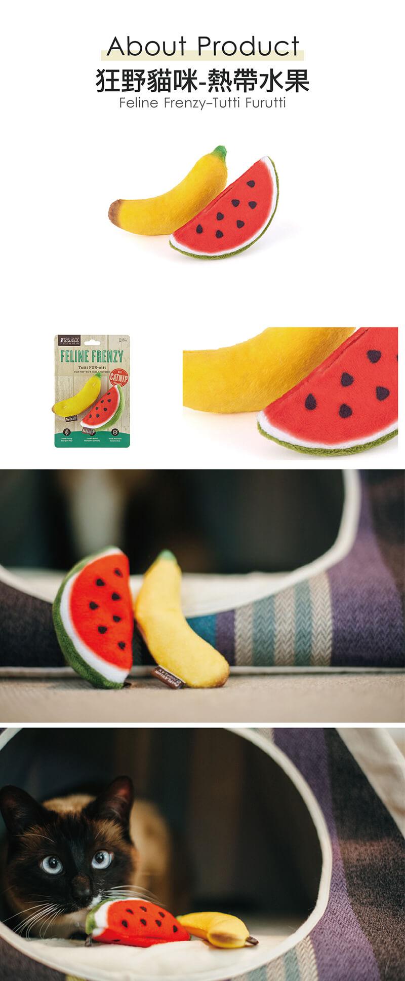 美國 P.L.A.Y. 玩具系列 狂野貓咪 熱帶水果