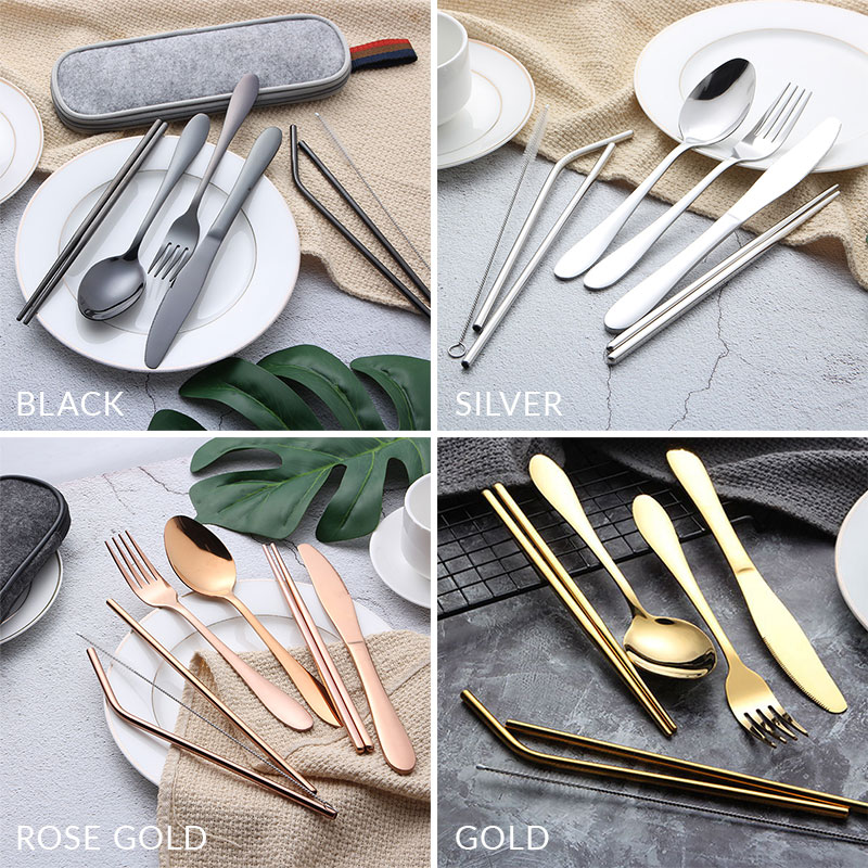 不鏽鋼環保餐具7件組