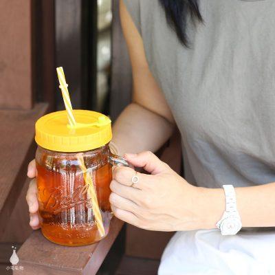 美國 Ball 梅森 24oz 寬口馬克杯 + QQ彩色吸管杯蓋組