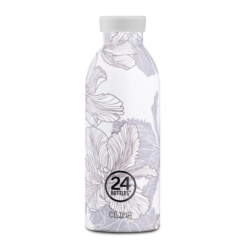 義大利 24Bottles 不鏽鋼雙層保溫瓶 500ml (花脈) 附濾茶器