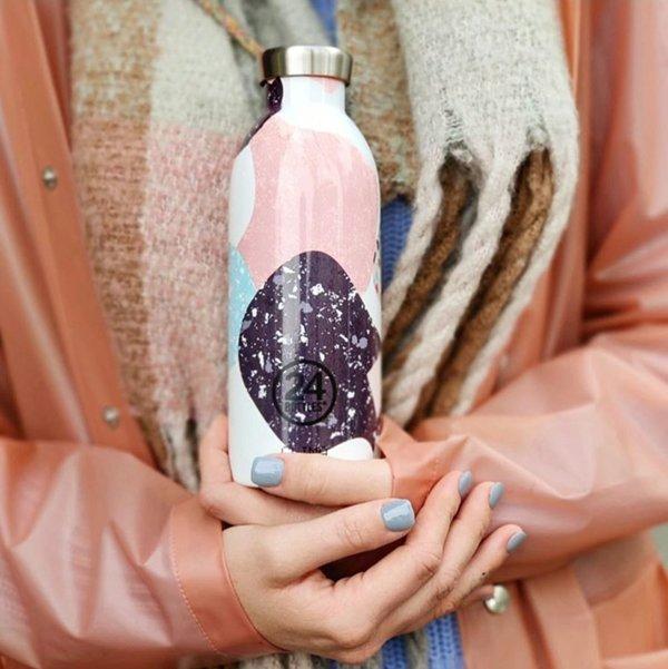 義大利 24Bottles 不鏽鋼雙層保溫瓶 500ml (彩色石)