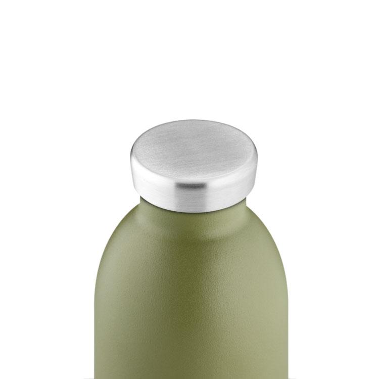 義大利 24Bottles 不鏽鋼雙層保溫瓶 500ml (橄欖綠)