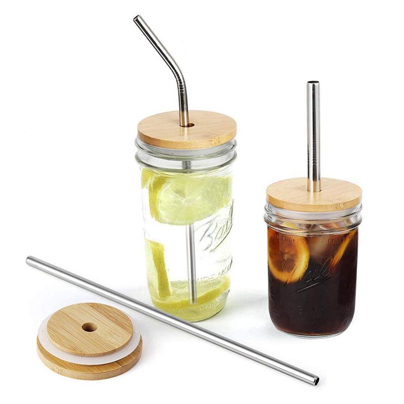 Ball 梅森罐專用 粗吸管孔 天然竹杯蓋 (寬口)