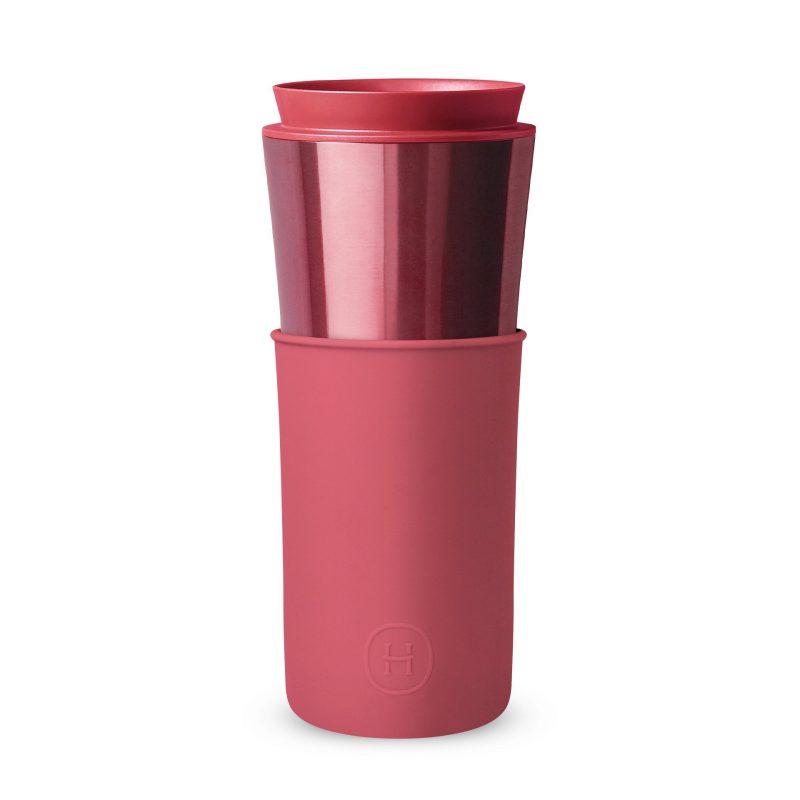 美國 HYDY 兩用隨行保溫杯 450ml 玫瑰金杯 (桑格利亞)