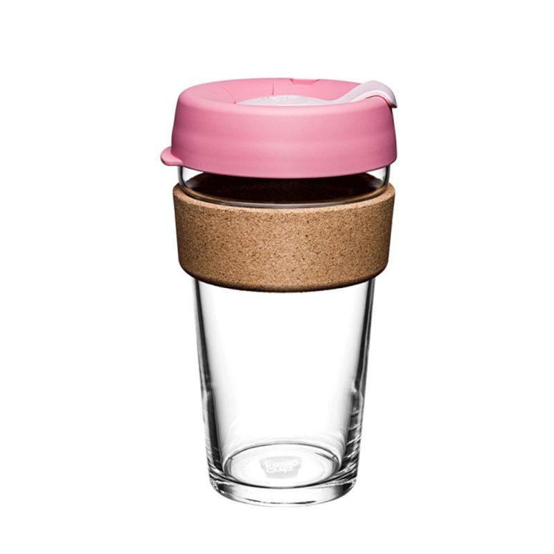澳洲 KeepCup 隨身咖啡杯 軟木系列 L - 甜心粉