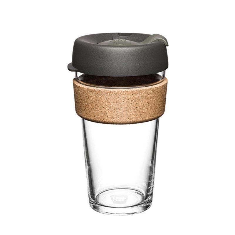 澳洲 KeepCup 隨身咖啡杯 軟木系列 L - 鎧甲銀