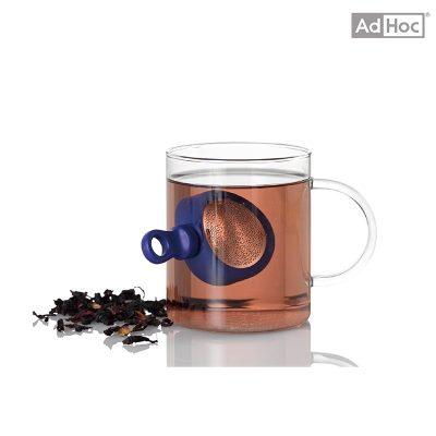 德國 AdHoc 磁吸式濾茶器 寶藍色 TE32