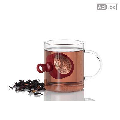 德國 AdHoc 磁吸式濾茶器 潮紅色 TE34