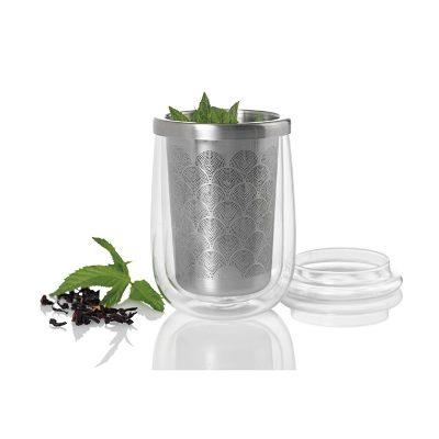 德國 AdHoc 雙層玻璃茶杯附不銹鋼濾茶器 TF20