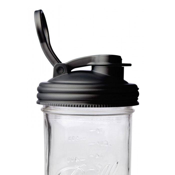美國 reCAP 升級版 飲料隨行杯蓋 (寬口-黑)