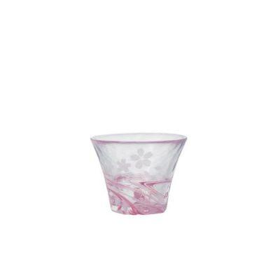 日本 津輕 手作櫻流小酒杯 60ml