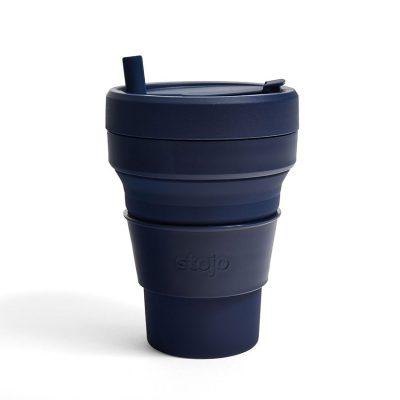 美國 Stojo 折疊伸縮杯 24oz 丹寧藍