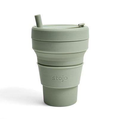 美國 Stojo 折疊伸縮杯 24oz 軍綠