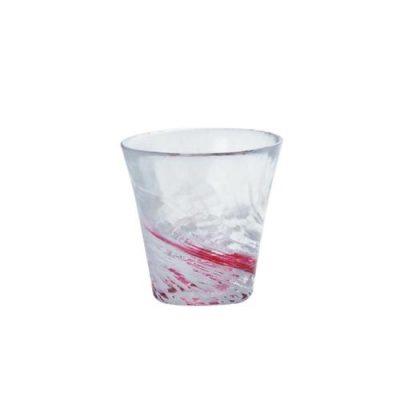 日本津輕 手作紅水渦燒酒杯