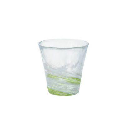 日本津輕 手作綠水渦燒酒杯