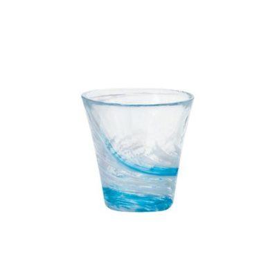 日本津輕 手作藍水渦燒酒杯
