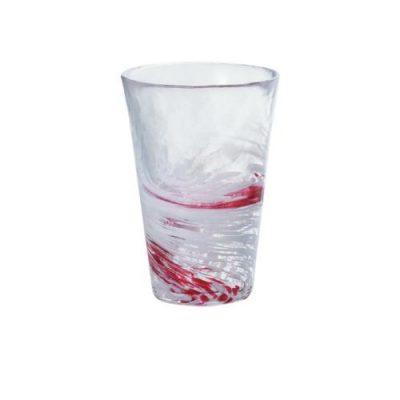 日本津輕 手作紅水渦飲料杯