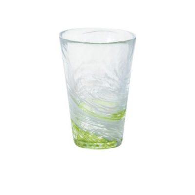日本津輕 手作綠水渦飲料杯