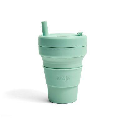 美國 Stojo 折疊伸縮杯 16oz 泡泡綠
