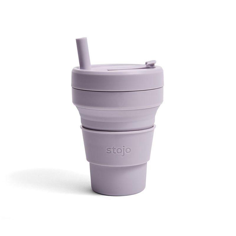美國 Stojo 折疊伸縮杯 16oz 紫丁香