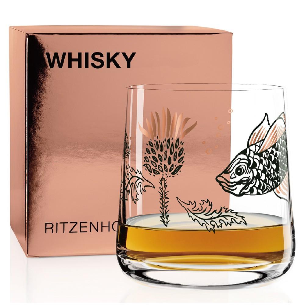 德國 RITZENHOFF WHISKY 威士忌酒杯-蘇格蘭薊與魚