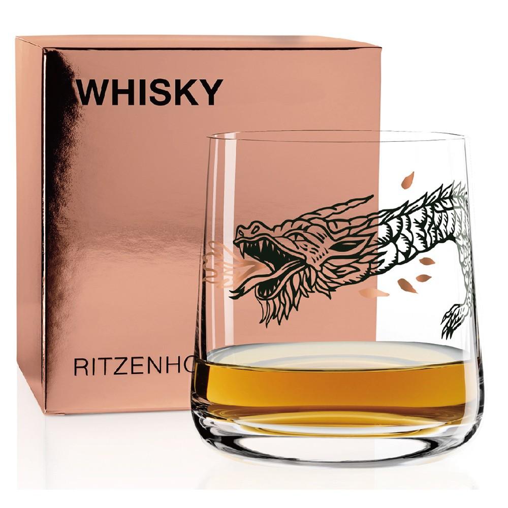 德國 RITZENHOFF WHISKY 威士忌酒杯-尼斯湖怪龍
