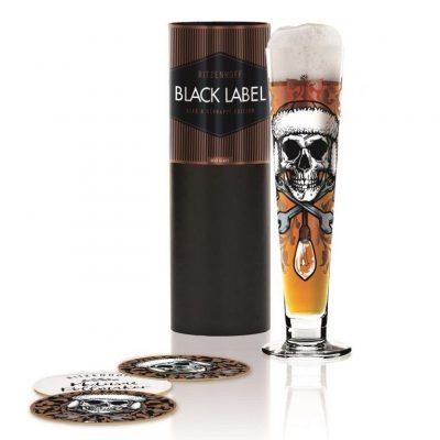 德國 RITZENHOFF BLACK LABEL 黑標經典啤酒杯-骷顱啤酒王