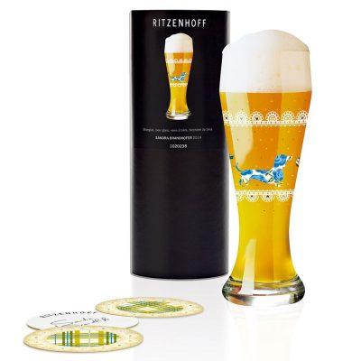 德國 RITZENHOFF WEIZEN 小麥胖胖啤酒杯-啤酒臘腸狗
