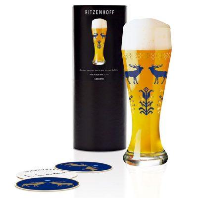 德國 RITZENHOFF WEIZEN 小麥胖胖啤酒杯-歡慶麋鹿