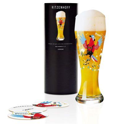 德國 RITZENHOFF WEIZEN 小麥胖胖啤酒杯-乾杯鸚鵡
