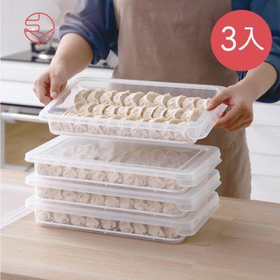 SHIMOYAMA_可疊式冰箱水餃:麵點冷藏冷凍保鮮盒-3入-1