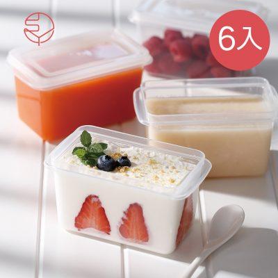 SHIMOYAMA_單格堅果穀物:甜點冷藏冷凍保鮮盒附蓋-280ml-6入-1