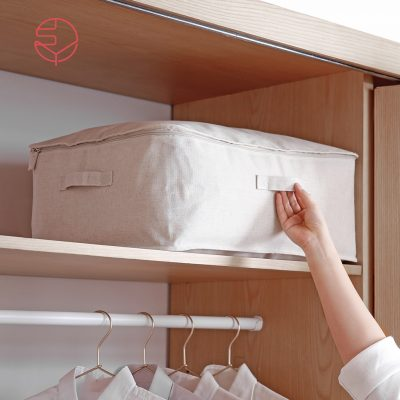 SHIMOYAMA_棉麻大容量可水洗防塵衣物棉被收納袋-1
