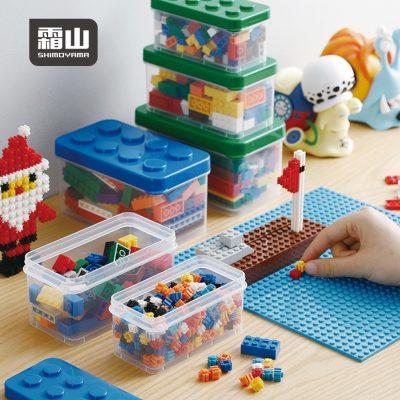 SHIMOYAMA_樂高可疊式小顆粒積木:零件收納盒-大中小3件套組-4色可選-1