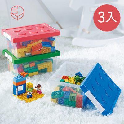 SHIMOYAMA_樂高可疊式積木玩具收納盒-3入-1