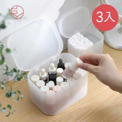 SHIMOYAMA_無分隔霧透PP多用途收納盒(附蓋)-3入-1