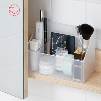 SHIMOYAMA_無印風彩妝保養品分類收納盒-附分隔盒