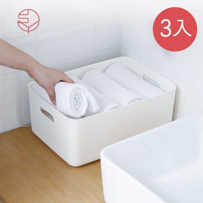 SHIMOYAMA_無印風霧面附蓋把手收納盒-M-3入-1