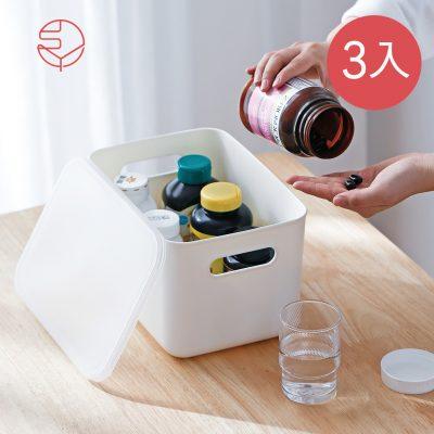 SHIMOYAMA_無印風霧面附蓋把手收納盒-S-3入-1